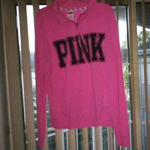 Victoria secret pink half zip sz small